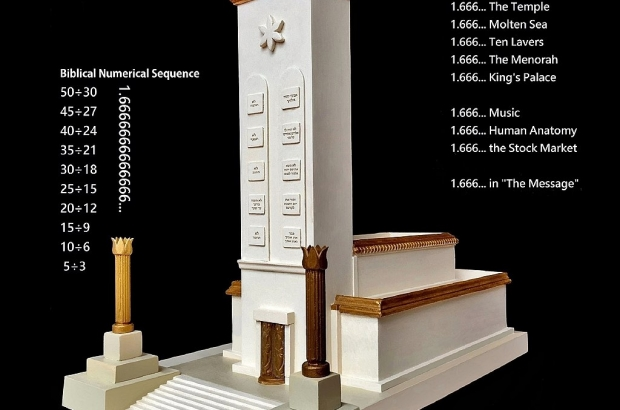 Solomon's Temple based on the Biblical Code of 1.6666666
